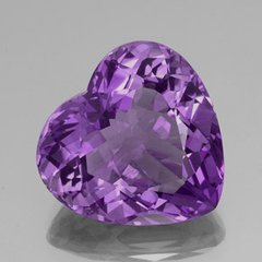 HEART FACETED AAA BRIGHT PURPLE GENUINE (NATURAL) AMETHYST