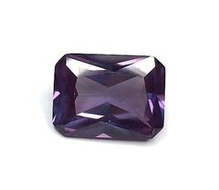 OCTAGON FACETED AAA LAB CREATED ALEXANDRITE (5x3-25x20mm)