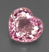HEART FACETED AAA RATED BRIGHT PINK CUBIC ZIRCONIA (4X4mm - 50X50mm)