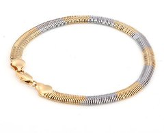 "14kt White & Yellow Gold Filled 8.66"" Fancy Bracelet With Lobster Claw Clasp"