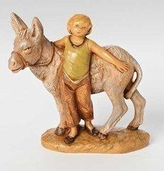 5 Inch Scale Fontanini Boy Nissan with Donkey 54064