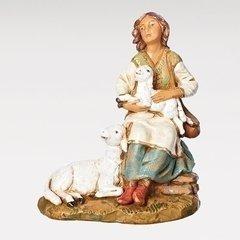 7.5 Inch Scale Fontanini Seated Nahome Shepherdess Figurine 52879
