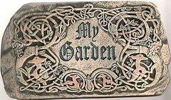 """9.25 Inch Long Roman Celtic """"My Garden"""" Garden Stone Figurine 92207"""