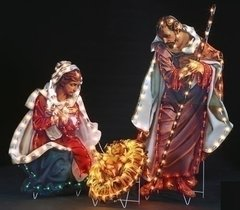 48 Inch High Fontanini Holy Family Lited Yard Art 3 pc set 165120