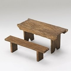 Table and Bench set for 7.5 inch Figurines 50898