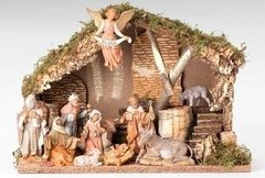 5 Inch Fontanini 11 pc Nativity Stable set 54490