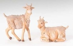 12 Inch Scale Fontanini Set of two Goats  52904