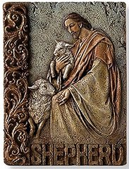8 Inch High Jesus Shepherd Wall Plaque 62803