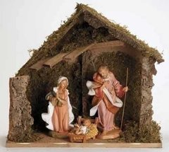 12 Inch Fontanini 3 pc Starter Set Nativity Scene 54909