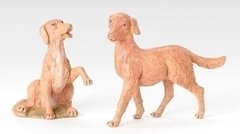 12 Inch Scale Fontanini Set of Two Dogs 52903