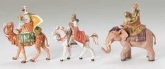 5 Inch Fontanini Set of 3 Kings on Animals 65244