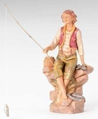 12 Inch Scale Fontanini Jacob, The Fisherman 52909