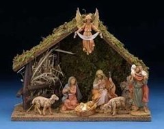 5 Inch Fontanini 7 pc Italian Nativity Stable Scene  54564
