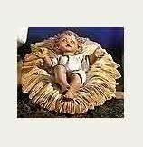 27 Inch Scale 2 pc Fontanini Baby Jesus figurine in Manger 53113