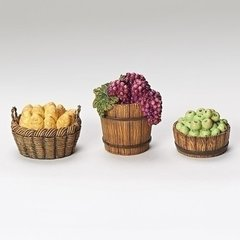 Fontanini 3 pc Basket Set breads, fruit 50899