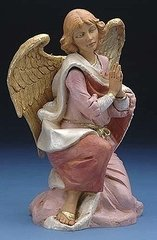 18 Inch Fontanini Kneeling Angel Figurine 53718