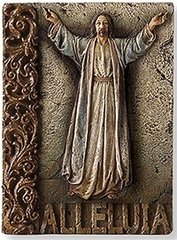 8 Inch High Josephs Studio Alleluia Wall Plaque 62804