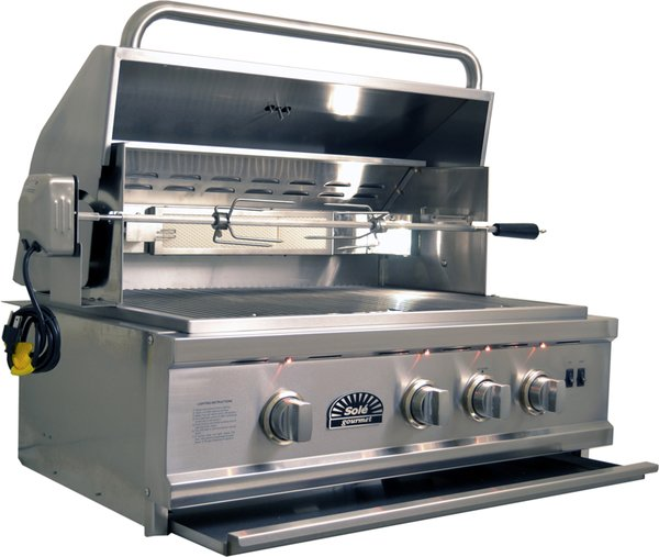 Sole 30 Quot Luxury Grill With Rotisserie Bbqs And More