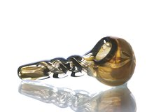 """GP26 - 3.25"""" Twisted, Color Changing Glass Pipe"""