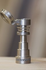 TI09 - 6 In 1 Domeless Titanium Nail With Attached Carb Cap