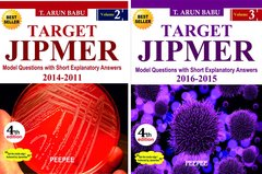 Target Jipmer (Volume 2 & 3) 2011-2016 4th Edition 2017 by Arun Babu