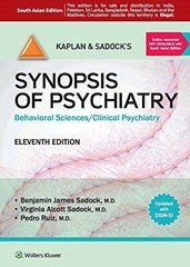 Kaplan and Sadock's Synopsis of Psychiatry,11/e, 2014