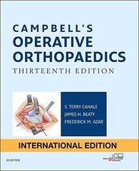 Campbell's Operative Orthopaedics 13th Edition 2017 (IE) 4 Volume Set by Frederick M Azar