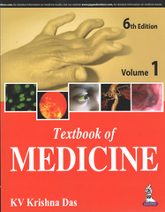 TEXTBOOK OF MEDICINE 6th Edition 2017 (2 Volume Set) By KV KRISHNA DAS