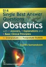 Single Best Answer Questions in Obstetrics By Eranthi Samarakoon