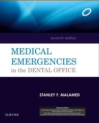 Medical Emergencies in the Dental Office, 7/e, 2015 (Paperback) by MALAMED