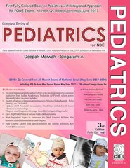 Complete Review of Pediatrics or NBE 3rd Edition 2017 by Dr Deepak Marwah, Singaram A