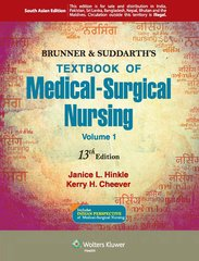 Brunner & Suddarth's Textbook of Medical Surgical Nursing (Set of 2 Volumes) Paperback 2014 by Janice L. Hinkle, Kerry H. Cheever