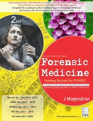 Forensic Medicine Nothing beyond for PGMEE (New SARP Series for NEET/NBE/AI) 2nd Edition 2018 by J Magendran