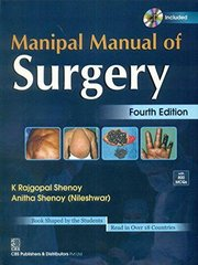 Manipal Manual of Surgery (With CD) 4th Edition (Paperback) by Anitha Shenoy, Rajagopal Shenoy