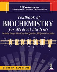 Textbook of Biochemistry for Medical Students 8th Edition 2016 by DM Vasudevan