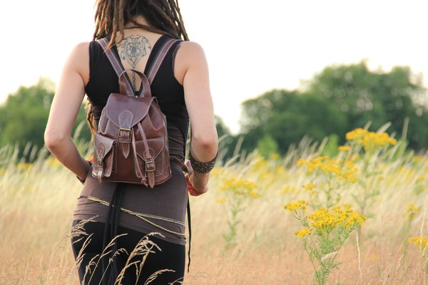 Womens Brown Leather Backpack | Leather Bags | Fashion Backpacks ...