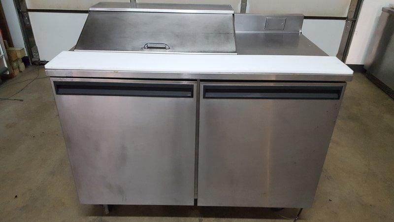 delfield 4048 8 4 pan prep table refrigerator purveyor. Black Bedroom Furniture Sets. Home Design Ideas