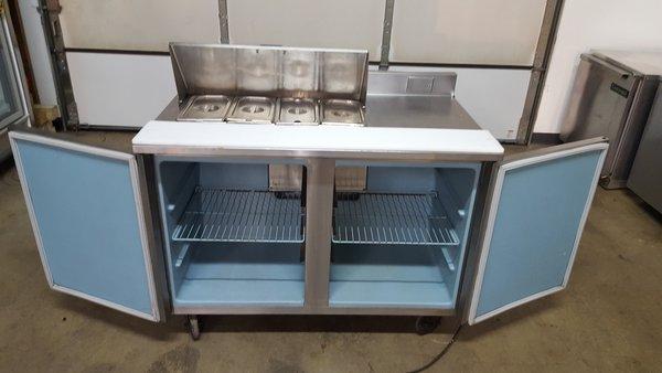 Delfield 4048-8 4 Pan Prep Table Refrigerator | Purveyor of Quality ...