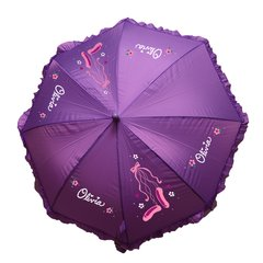 Ruffled Umbrella with Custom Designs