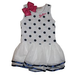 Polka Dot Princess Dress Bowknot