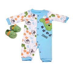 Dino Sleep N Play Romper with Booties