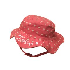 Bucket Hat Pink Polka Dots