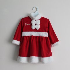 Santa Dress and Matching Santa Hat (Fleece)