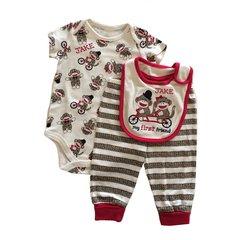 Sock Monkey Baby Gift Set