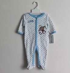 Sleep N Play Blue Monkey Baby Romper
