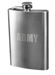 Flask, Stainless Steel, 8 Oz., U.S. Army