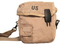 Canteen Cover, Brown, 2 Quart with Shoulder Strap - USGI New