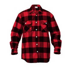 Flannel Shirts, Plaid - 100% Cotton