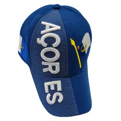 AZORES BLUE COUNTRY FLAG EMBOSSED HAT CAP .. NEW