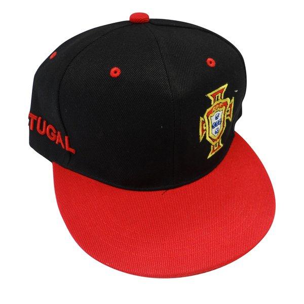 ab5fd1b7f97 ... PORTUGAL BLACK RED FPF LOGO FIFA SOCCER WORLD CUP HIP HOP HAT CAP .